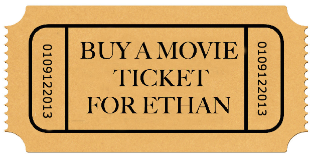 Buy a movie ticket for Ethan
