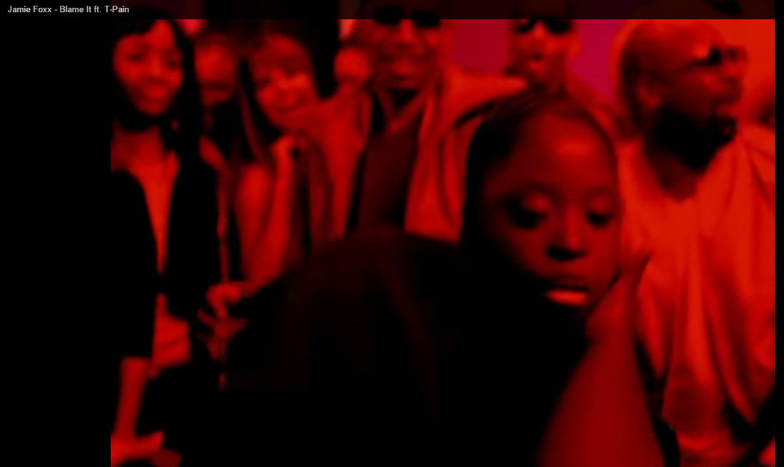 DeOndra Dixon dancing in Blame It video