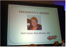 Patti Saylor honored by NDSC
