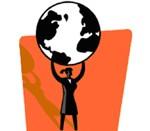 woman lifting earth