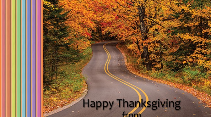 Happy Thanksgiving from The Road We've Shared