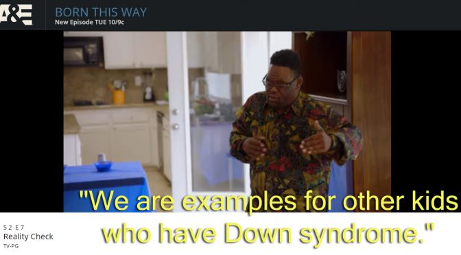 """We are examples for other kids who have Down syndrome."""