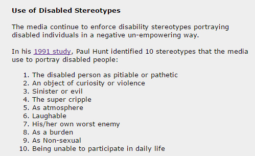 Disability Stereotypes