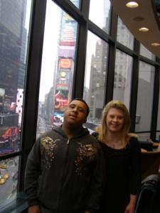 Bernadette and fellow artist Haile King Rubie in 2009