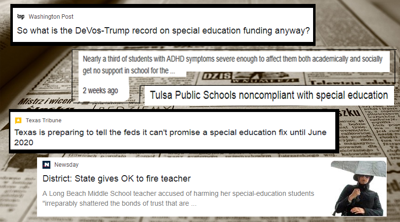 Special Education Headlines