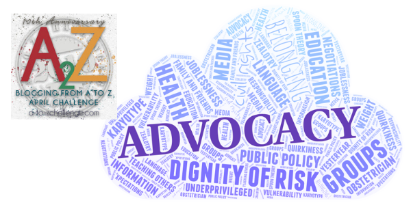 2019 A to Z Blogging Challenge – Advocacy