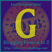 G is for Get Moving – A to Z Blogging Challenge