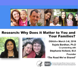 Research: Why Does it Matter to You and Your Families?